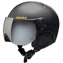Sinner Rodmann Crystal en Ciclismo Casco de esquí con Visera, otoño/Invierno, Unisex