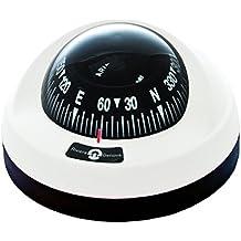 Forwater Aries-Compás de navegación de base extraíble, 65 mm, color blanco