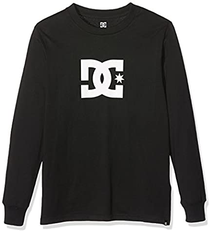 DC chaussures garçons Star Écran à manches longues T-shirt pour homme Noir, Taille 14/L