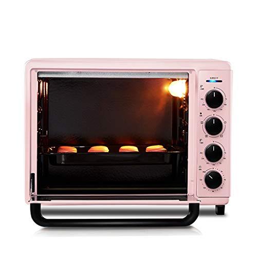 Unbekannt 42L Over Range Arbeitsplatte mit emailliertem Gusseisen & Grill und Deckel, Smart Retro-Toaster-Öfen, Bräter für Pizza backen Keks, Pink (Toaster Ofen-arbeitsplatte)
