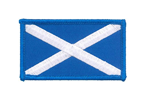 bestickt Scottish Saltire Scotland Flagge rechteckig Badge Patch (Flagge Scottish Saltire)