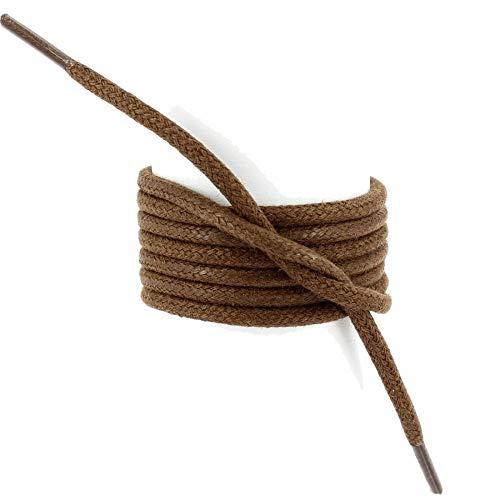 Les lacets Français - Lacets Ronds épais 3mm Coton Ciré Couleur Chocolat