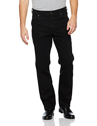 Wrangler Herren Durable Regular Fit Straight Leg Jeans, Schwarz (Black), W36/L34