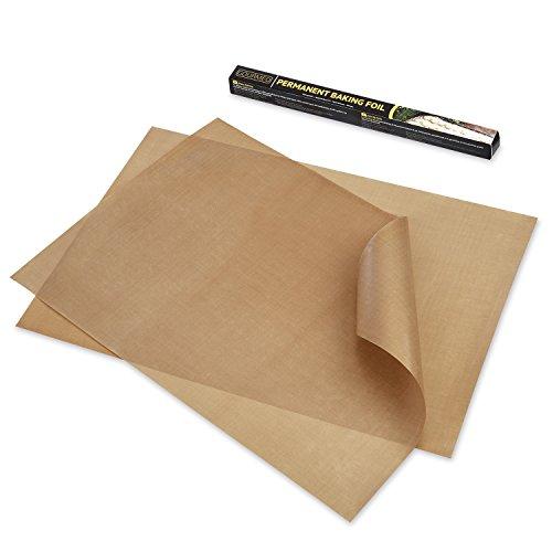 GOURMEO Dauerbackfolie (2er Set, 36 x 42 cm), einfach zuzuschneiden, spülmaschinenfest, umweltschonend, antihaftbeschichtet | 2 Jahre Zufriedenheitsgarantie | Dauerbackfolie, Backpapier wiederverwendbar