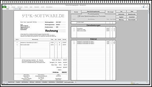 Premium Rechnungsprogramm mit PDF Funktion. Rechnungssoftware mit Angebote, Lieferscheine, Mahnung, Fax und Briefformulare -