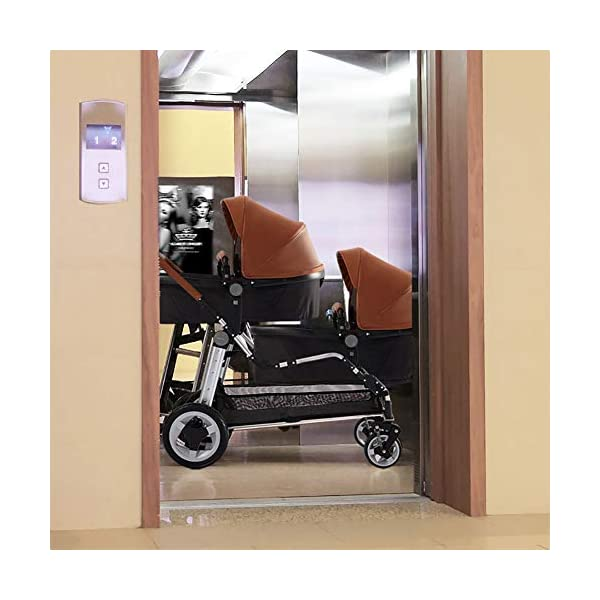 CHEERALL Double Baby Stroller Eggshell Twin High Landscape Pushchair Foldable Front And Rear Seat Adjustable Backrest Newborn Buggy,Brown CHEERALL TWIN STROLLER: Getting everywhere with two little ones has never been easier, thanks to the Double Strollers; you can glide around town even when you only have one hand free to steer; you can even roll through a standard size doorway. SEAT ORIENTATION ADJUSTABLE & ADJUSTABLE BACKREST :Arbitrarily convert the seat orientation to meet the needs of different age groups. The backrest can adjust to fit baby's sleep posture to keep comfortable sleeping. SAFETY WHEELS & DOUBLE BRAKE:The front wheel has dual shock absorption and 360° universal rotation for easy to control direction and safety. The rear wheel is made of PU material, which is wear-resistant and has a long service life..In the process of pushing, if you want to brake urgently, you can directly step on the crossbar under the seat with your foot, and the pedaling area is large. 5