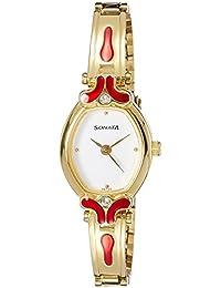 Sonata Analog White Dial Women's Watch -NK8068YM04