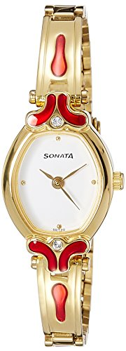 Sonata Analog Silver Dial Women's Watch - NF8068YM04 image