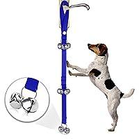 Myfei pour animal domestique col Traction Corde Maison d'entraînement Sonnette train Laisse réglable, Dressage de chien Housetraining Sonnette Corde pour toilettes de salle de bain