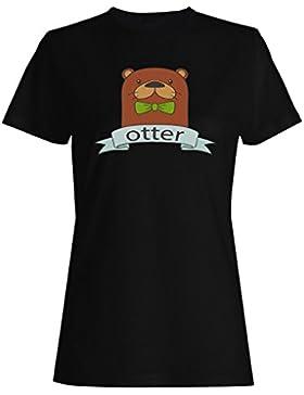 Nuevo Arco De Nutria Dibujado A Mano camiseta de las mujeres l205f