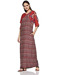 global desi Women's A-Line Rayon Maxi Dress