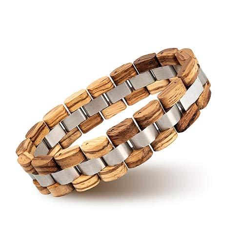 XIAOHA Herrenarmband Holz Armband Homme Männer Frauen Holz Armreif Schmuck Geschenk Große Geschenke