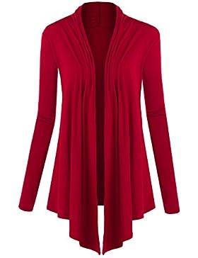 Suimiki Casual Damen Cardigan Strickjacke Offener V-Ausschnitt Langarmshirts Sweatshirts Loose Fit Longshirts...