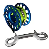 Baoblaze Hohe Qualität Aluminium Mini Reel Fingerreel Unterwasser Sport Finger Reel mit 15/30 Meter...