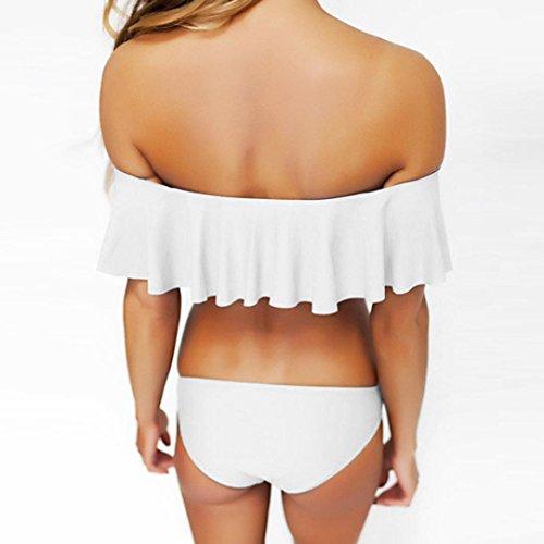 Manadlian Bikini Femmes, 2017 Femme Sans Bretelles Plage Bikini Maillot Blanc