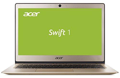 Acer Swift 1 SF113-31-P63H 33,8 cm (13,3 Zoll Full-HD IPS matt) Ultrabook (Intel Pentium N4200, 4GB RAM, 256GB SSD, Intel HD, Win 10) gold Fingerprint Reader-tastatur
