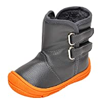 Lacofia Toddler Boys Girls Anti-Slip Rubber Sole Waterproof Winter Snow Boots