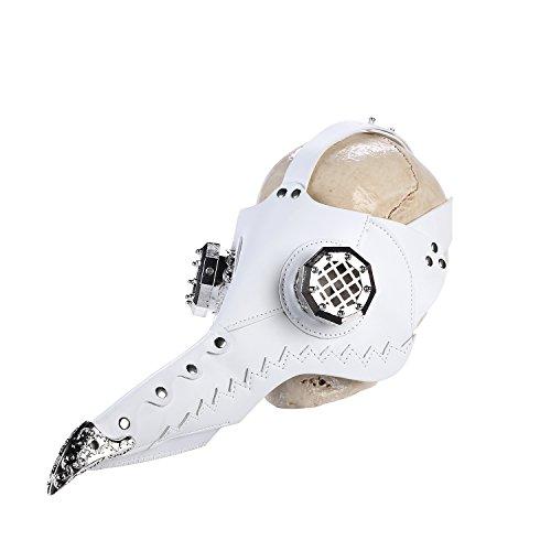 Cestlafit Steampunk Pest Vogel Maske von Retro mittelalterlichen Doktor Gothic Vintage Kostüm, Halloween Party Cosplay Dekoration Zubehör, (Pest Kostüm Mittelalterliche Doktor)