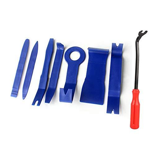 8 Teile/Satz Trim Removal Tool Set Hartplastik Auto Auto Interieur Dash Radio Audio Tür Clip Panel Trim Open Removal Tools - Blau (Auto Teile Tür Trim)