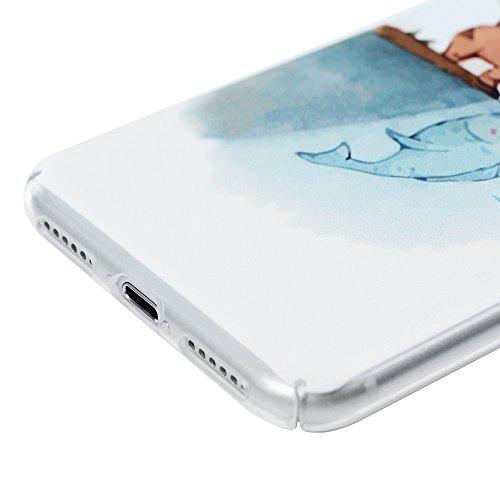 YOKIRIN iPhoen 7 Case Cover PC Hardcase Hülle Tasche Etui Schale Hüllen Protection Protective Skin Schutzhülle Schutz Harte Backcover Haut Schutzhüllen Muster:Vogel Schmetterling