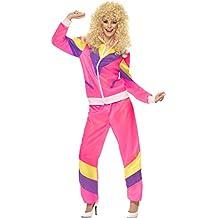 Smiffys - Disfraz de años 80s retro para mujer, talla M (39660M)