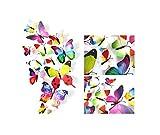 12st Pvc 3D-Schmetterling Wand-Dekor Nette Schmetterlinge-Wand-Aufkleber-Kunst-Abziehbild-Ausgangsdekoration-Raum-Wand-Kunst, Regenbogen
