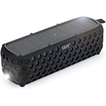 Altavoz Bluetooth GRDE® Waterproof Altavoz Inalámbrico Portátil con Bluetooth 4.0, Endurance about 30 Hours con Panel Solar, Solar Altavoces para Android Movil, iphone, ipad, MP3/4, etc