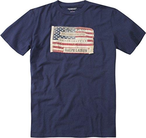 Polo Ralph Lauren Denim&Supply Herren T-Shirt Shortsleeve, Größe: L, Farbe: Blau