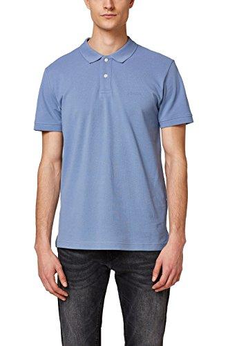 ESPRIT Herren Poloshirt 028EE2K012, Blau (Blue Lavender 425), Small (Bio-baumwoll-piqué Polo)