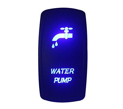 bandc 12V/24V Wasser Pumpe Wippe Laser geätzt On-Off-SPST 5Pins blau LED für Marine Grade Auto Boot RV Wasserdicht IP66 -