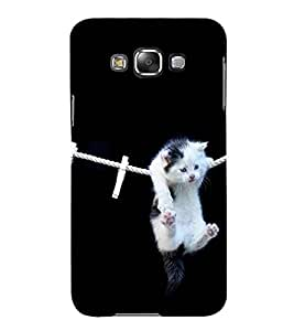 For Samsung Galaxy E5 (2015) :: Samsung Galaxy E5 Duos :: Samsung Galaxy E5 E500F E500H E500Hq E500M E500F/Ds E500H/Ds E500M/Ds cute cat ( cute cat, dangerous cat, pink cat, cat ) Printed Designer Back Case Cover By TAKKLOO