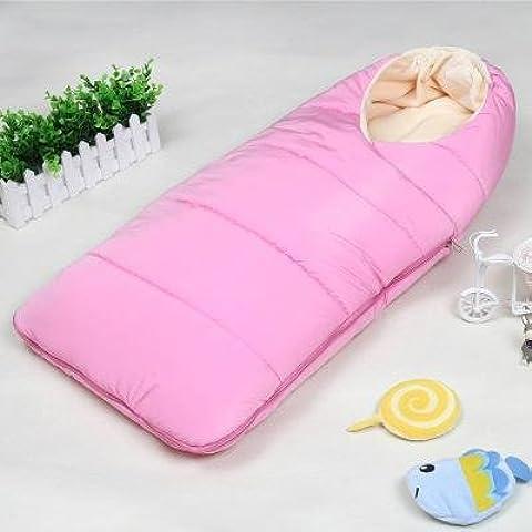 Saco de dormir bebe sleeping bag baby Otoño y el invierno espesan el dormir del bebé recién nacido suministros niño recién nacido está llevando a cabo contra las mantas Tipi al bebé recién nacido , pink