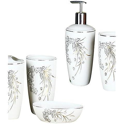 YangR*Diamante decorativos baño traje de 4 piezas