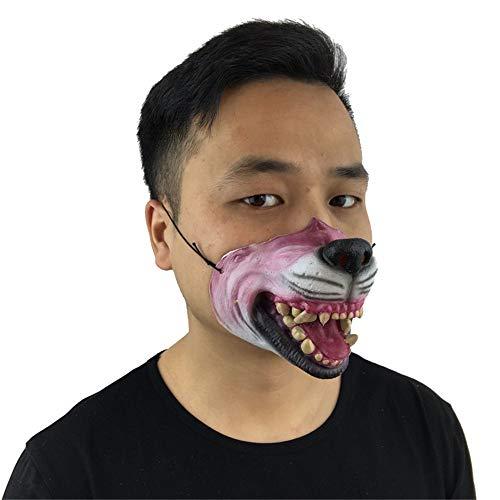 NUOKAI Lustige Nase Latex halbe Gesicht Maske lustige lustige Show Latex Maske halbe Gesicht Tanz Männer und Frauen Maske, Wolf Maske