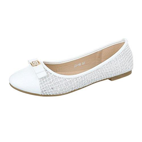 Ital-Design - Scarpe chiuse Donna, bianco (bianco), 37 EU
