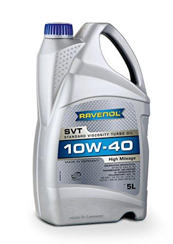RAVENOL SVT SAE 10W-40 / 10W40 Teilsynthetisches Motoröl für hohe Laufleistung ab ca. 100.000 km...