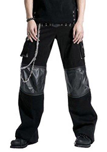 Pantaloni: Punk gotico con pantaloncini separabile K-151 Punk Rave nero M