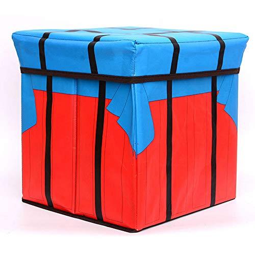 Faltbarer Aufbewahrungs Stuhl - Airdrop Box Fußablage Hocker/Bank-Sitz Cube Aufbewahrungsbox Sitz für Wohnzimmer Schlafzimmer -