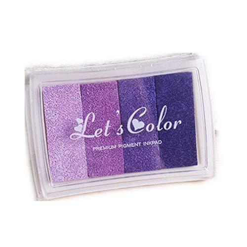 1 x Stempelkissen Inkpad Stamp Pad Fingerabdruck 4 Farben Nicht TOXISCH kindersicher von TheBigThumb, Farbverlauf lila