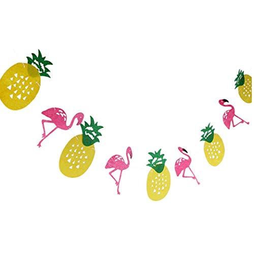 ng Banner Hawaii-Ananas-Party-Tropische Party-Foto-Prop Geburtstag Garlands Dekorationen Partybedarf Filz-Partei-Dekoration ()