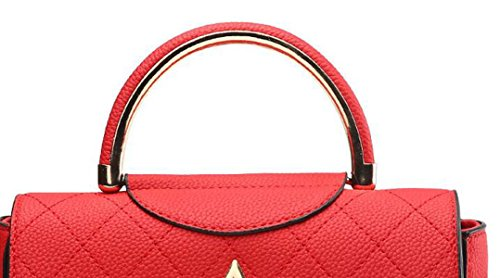 Umhängetasche Damen Damen Schräge Quadratische Tasche Handtasche Leder Blue
