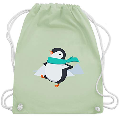 Tiermotive Kind - Happy Pinguin - Unisize - Pastell Grün - WM110 - Turnbeutel & Gym Bag -