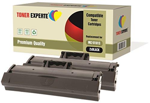 Kit 2 TONER EXPERTE MLT-D101S Toner compatibili per Samsung ML-2160 ML-2165W ML-2168 ML-2168W SCX-3400 SCX-3400FW SCX-3405 SCX-3405FW SCX-3405W SCX-3405F SF-760P ML-2161 ML-2162 ML-2164W ML-2165