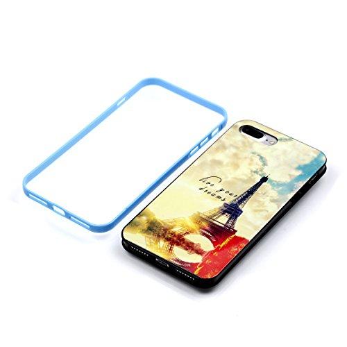 iPhone 7 PLUS Hülle, Cozy Hut ® [Liquid Crystal] [Ultra Dünn] Bumper-Style Premium-TPU / Sehr Leicht / Perfekte Passform / Durchsichtiges Soft-Case Schutzhülle für Apple iPhone 7 PLUS (5.5 zoll), Appl dream Paris
