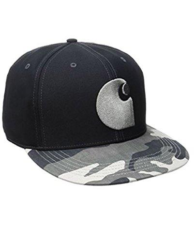 Carhartt Brooker Cap - Schwarz Grau Camo Hüte Kappe Baseball-Cap Männer CH102507071-One Size