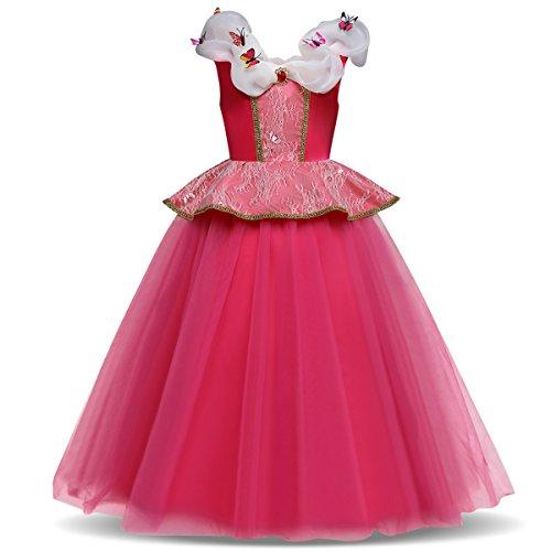 kejke Mädchen Pailletten Kleine Meerjungfrau Kostüm Prinzessin Kleid Kostüme Eiskönigin Prinzessin Kostüm Kinder Kleid Mädchen Weihnachten Verkleidung Karneval Party Halloween Fest
