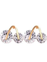 Joyas de oro del lirio de cristal austriaco lindo de la cereza del elemento del Swarovski pendiente del perno prisionero para las mujeres