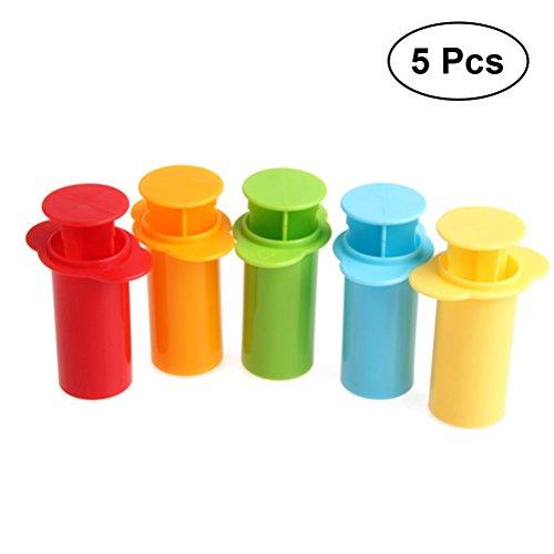 TOYMYTOY 5Pcs Kinderknete Spritzen Kunststoff Extrudieren Teig Plastilin Mold Werkzeug Set Kinder Spielzeug