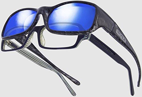 283acb549b1 Jonathan Paul fitovers grande mooya Negro Wind polarizadas Azul Espejo  Gafas de sol