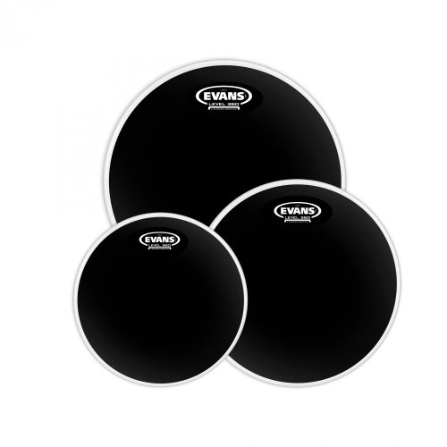 Evans ETP-CHR-F Black Chrome - Set di pelli per rullante da 25,4 cm (10